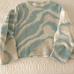 ANTHROPOLOGIE Soft, Cropped, High Neck Sweater